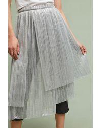 Maeve - Metallic Skirted Pants - Lyst