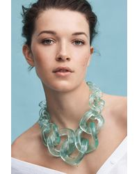 Anthropologie | Green Looped Lucite Necklace | Lyst