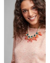 Anthropologie - Multicolor Vreeland Pearl & Stone Necklace - Lyst