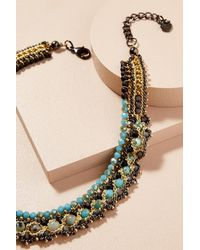 Anthropologie | Green Simone Beaded Necklace | Lyst