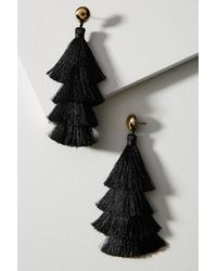 Anthropologie | Black Fiesta Drop Earrings | Lyst