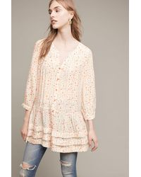 Maeve - Multicolor Paccia Printed Tunic, Neutral - Lyst