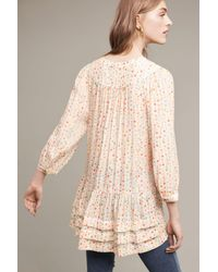 Maeve - Multicolor Paccia Printed Tunic, Neutral - Lyst