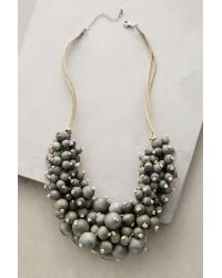 Anthropologie | Gray Mallow Bib Necklace | Lyst