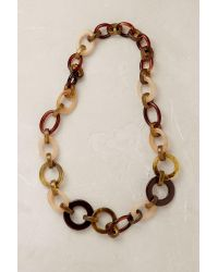 Anthropologie | Brown Romy Tortoiseshell Necklace | Lyst