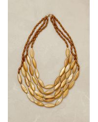 Anthropologie | Yellow Jacinta Layered Necklace | Lyst
