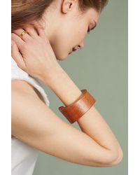 Sophie Monet - Brown Tesoro Wooden Cuff Bracelet - Lyst