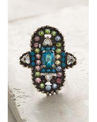 DANNIJO - Metallic Jade Ring - Lyst
