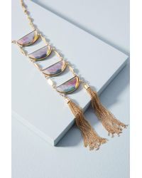 Anthropologie - Gray Cadence Ladder Necklace - Lyst
