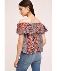 Maeve | Red Vallita Off-the-shoulder Blouse | Lyst