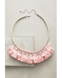Anthropologie   Pink Acalia Fringed Collar Necklace   Lyst
