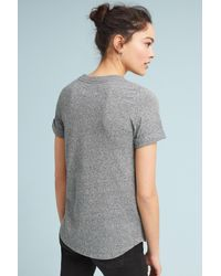 Sol Angeles - Gray Merci Beaucoup Graphic Tee - Lyst
