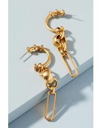 Elizabeth Cole | Metallic Coralia Drop Earrings | Lyst
