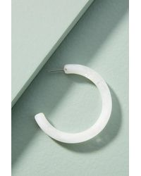 Zenzii - White Watercolor Resin Hoop Earrings - Lyst