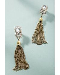 Anthropologie - Gray Duffy Tassel Drop Earrings - Lyst