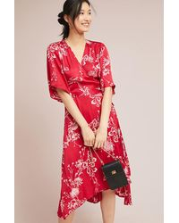 d0e120be1ae0 Second Female Vicky Wrap Dress in Red - Lyst