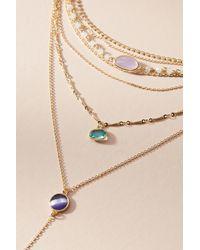 Anthropologie - Blue Ramona Layered Stone Necklace - Lyst