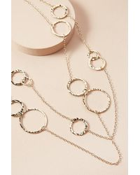 Anthropologie - Metallic Stefanie Layered Necklace - Lyst