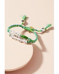 Venessa Arizaga - Green Beaded Phrases Bracelet - Lyst