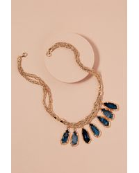 Anthropologie - Metallic Tanie Stone Necklace - Lyst
