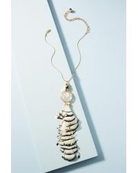 Nocturne | Metallic Ray Feather Pendant Necklace | Lyst