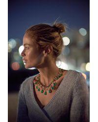 Anthropologie - Green Teardrop Bib Necklace - Lyst