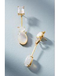 Indulgems | White Gail Matchstick Drop Earrings | Lyst