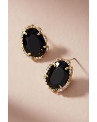 Serefina - Black Petite Sugar Cube Post Earrings - Lyst