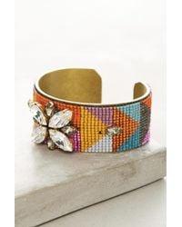 Jill Golden | Multicolor Symmetry Beaded Cuff Bracelet | Lyst