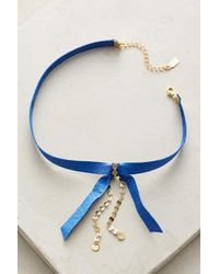 Lucky Star Jewels | Blue Prim Choker Necklace | Lyst
