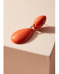 Zenzii - Orange Elizabeth Drop Earrings - Lyst