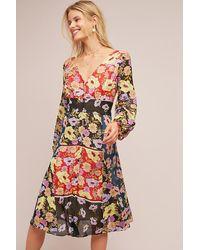 ef0e1a0d4e1be Maeve Gardenia Wrap Dress - Lyst