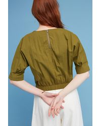 Anthropologie - Paola Banded Top, Green - Lyst