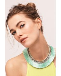 Anthropologie | Green Corsican Bib Necklace | Lyst