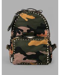 Valentino | Multicolored Camouflage Backpack | Lyst