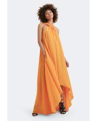 AQ/AQ - Orange Isla Step Hem Maxi Dress - Lyst