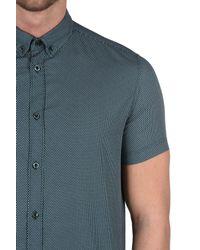 Armani Jeans - Green Short Sleeve Shirt for Men - Lyst