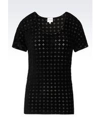 Armani | Black Print T-shirt | Lyst