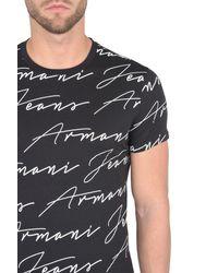 Armani Jeans - Black Print T-shirt for Men - Lyst