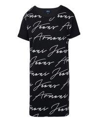 Armani Jeans   Black Print T-shirt   Lyst