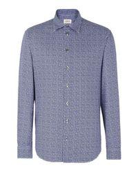 Armani | Blue Long Sleeve Shirt for Men | Lyst