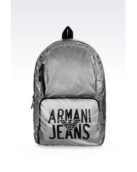 951abacda3eb Lyst - Armani Jeans Packable Backpack In Technical Fabric in ...