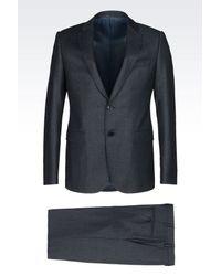 Armani | Blue Two Button Suit for Men | Lyst