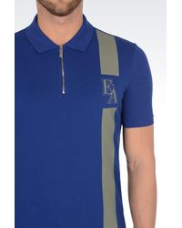 Emporio Armani - Blue Short-sleeved Polo Shirt for Men - Lyst