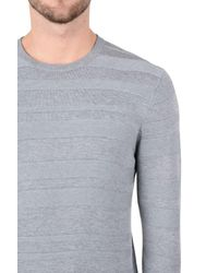 Armani Jeans - Gray Crewneck Sweater for Men - Lyst
