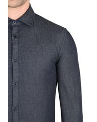 Armani Jeans - Blue Long Sleeve Shirt for Men - Lyst