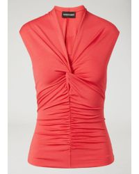 Emporio Armani - Red Top - Lyst