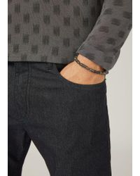 Emporio Armani - Gray Bracelet for Men - Lyst