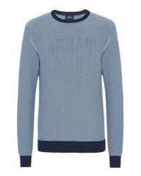 Armani Jeans - Blue Crewneck Sweater for Men - Lyst