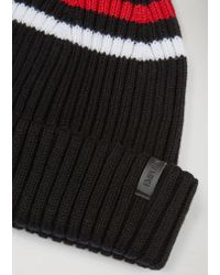 Emporio Armani - Black Beanie for Men - Lyst
